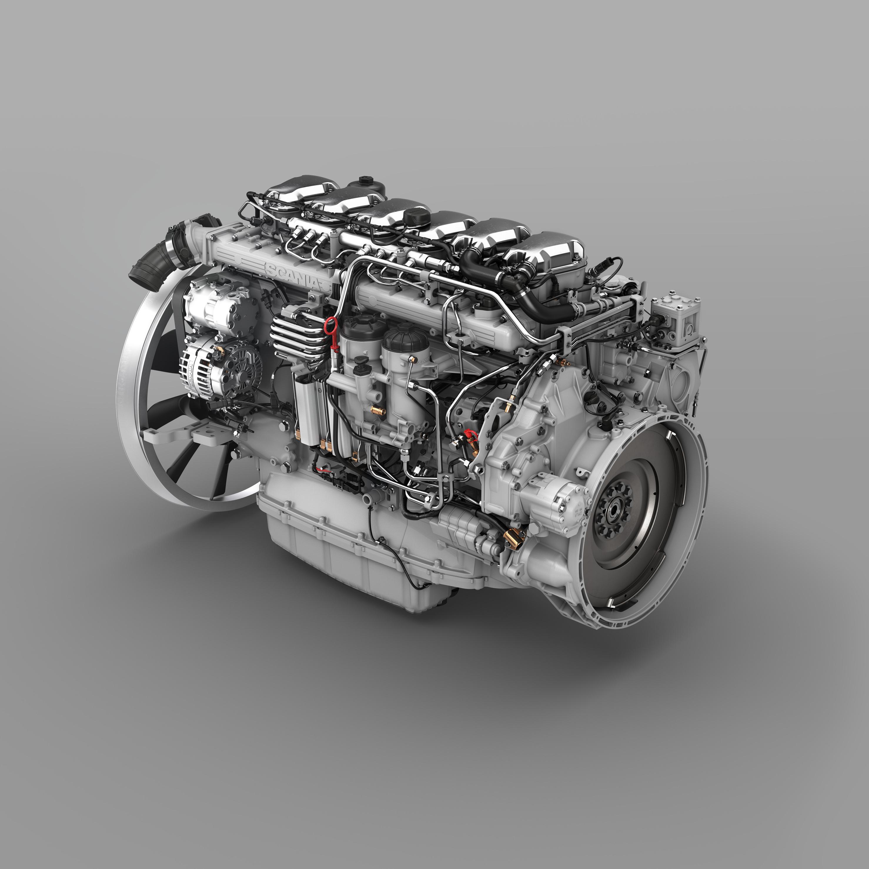 Scania ha mejorado sus motores DC09 y DC13 y ha conseguido un ahorro de combustible extra de hasta un 2%.