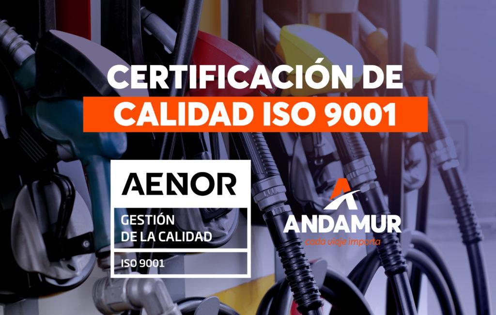 Andamur obtiene la Certificación de Calidad ISO 9001.