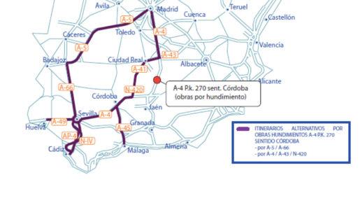 Restricción excepcional para camiones en la A-4 en Despeñaperros el 5 y 6 de diciembre