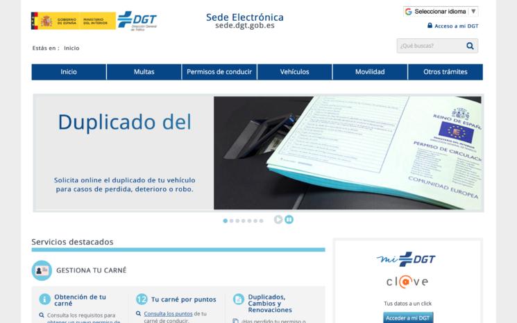 Ya se puede pedir on line el duplicado del permiso de circulación en la Sede Electrónica de la DGT.