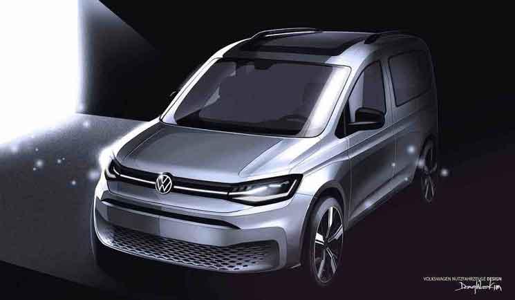 Volkswagen ha adelantado el boceto, y algunas especificaciones técnicas, de lo que será la nueva Caddy, que se presenta en febrero.