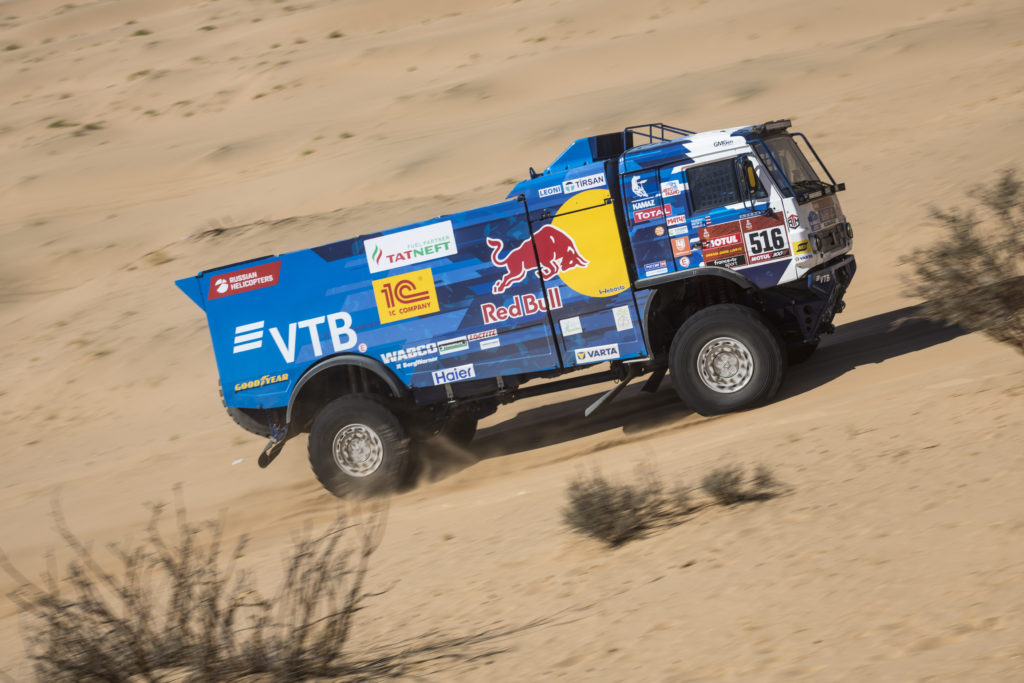Anton Shibalov, del equipo KAMAZ_Master se ha hecho con la victoria en la primera etapa del Dakar 2020.