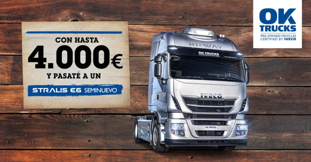 """Iveco ofrece 4000 euros más por tu camión """"viejo"""" euro 0 a euro 5 si lo sustituyes por un Stralis Seminuevo."""