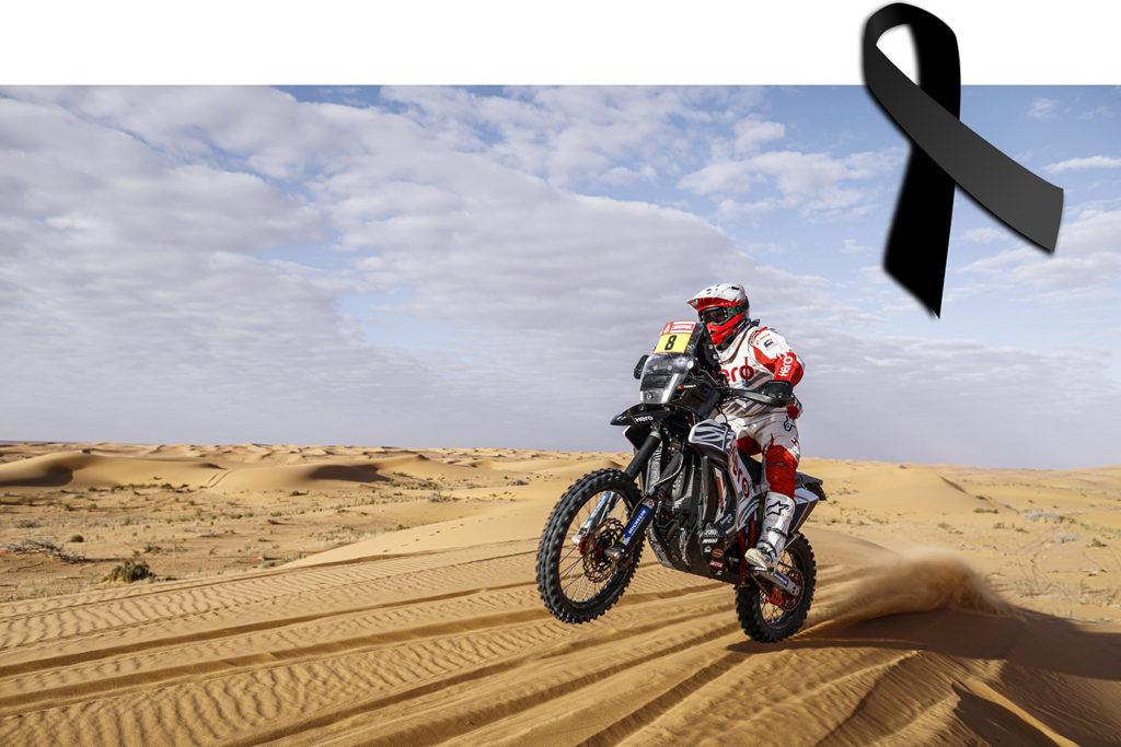 En la etapa 7 del Dakar 2020, hay que lamentar el fallecimiento del motorista Paulo Gonçalvez, del equipo Hero. Photo Francois Flamand / DPPI