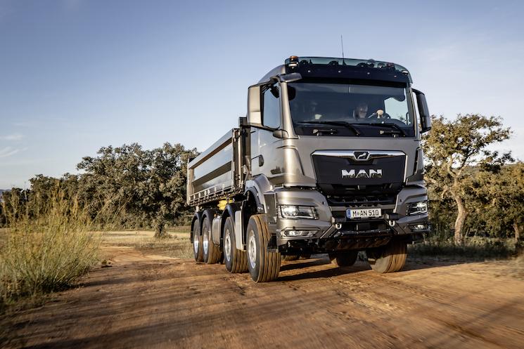 EL TGS es el camión indicado para los trabajos de construcción ligeros.