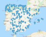 Mapa interactivo con todas las áreas, estaciones de servicio y establecimientos que dan servicio a los transportistas