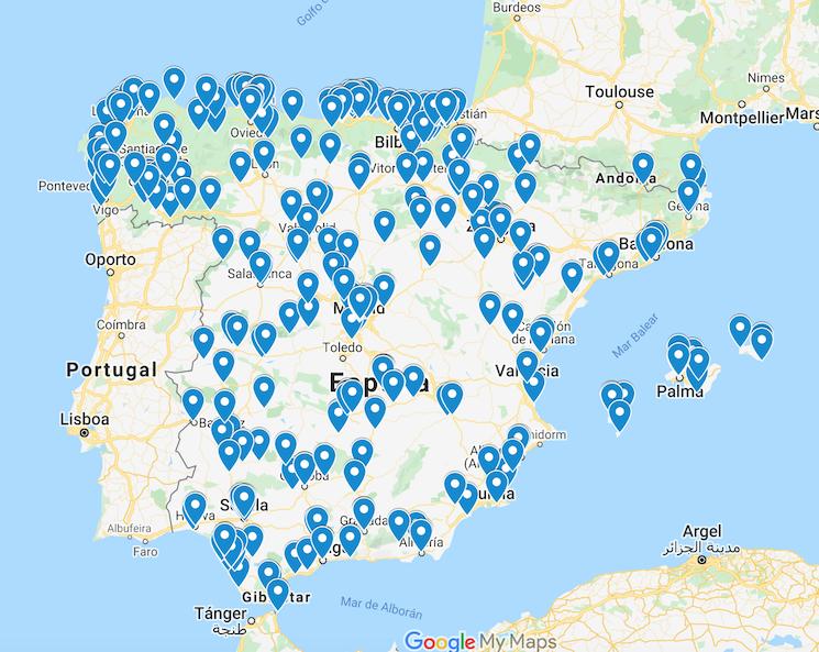 Mapa interactivo con todas las áreas y estaciones de servicio abiertos para los transportistas. Lo ha elaborado Transportes y lo va a actualizar de forma permanente.