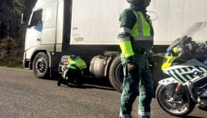 Campaña de controles intensivos de la Guardia Civil sobre camiones