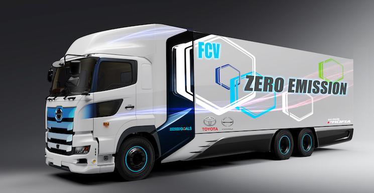 Toyota e Hino anuncia un camión pesado de hidrógeno de 25 toneladas y 600 kilómetros de autonomía.