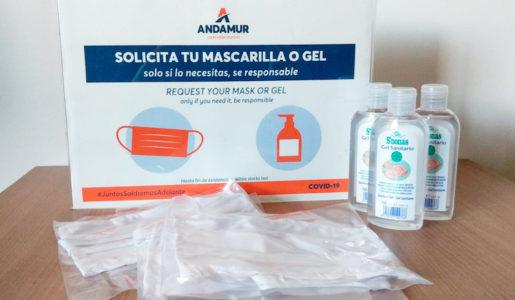 Andamur entrega mascarillas y geles en sus estaciones de servicio