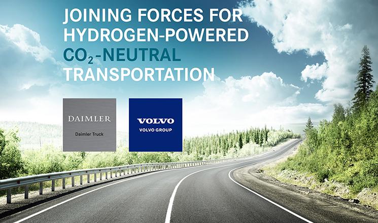 Volvo Trucks y Daimler Trucks unen fuerzas para el desarrollo de camiones de hidrógeno con el objetivo de conseguir un transporte neutro en emisiones de CO2.
