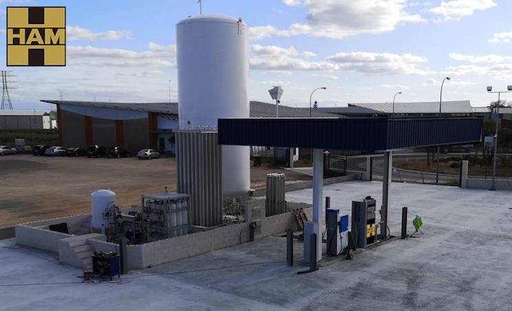 HAM ha inaugurado una nueva gasinera en La Roda, Albacete, en las instalaciones de la empresa Transportes Ojechar.