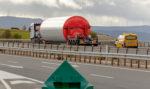 Obras en la A-2 en Lérida con restricciones para transportes especiales