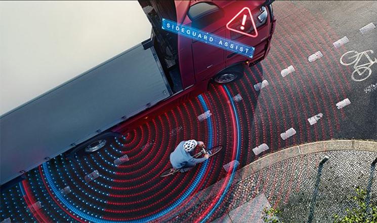Mercedes-benz ofrece el asistente de giro para camiones matriculados desde 2017.