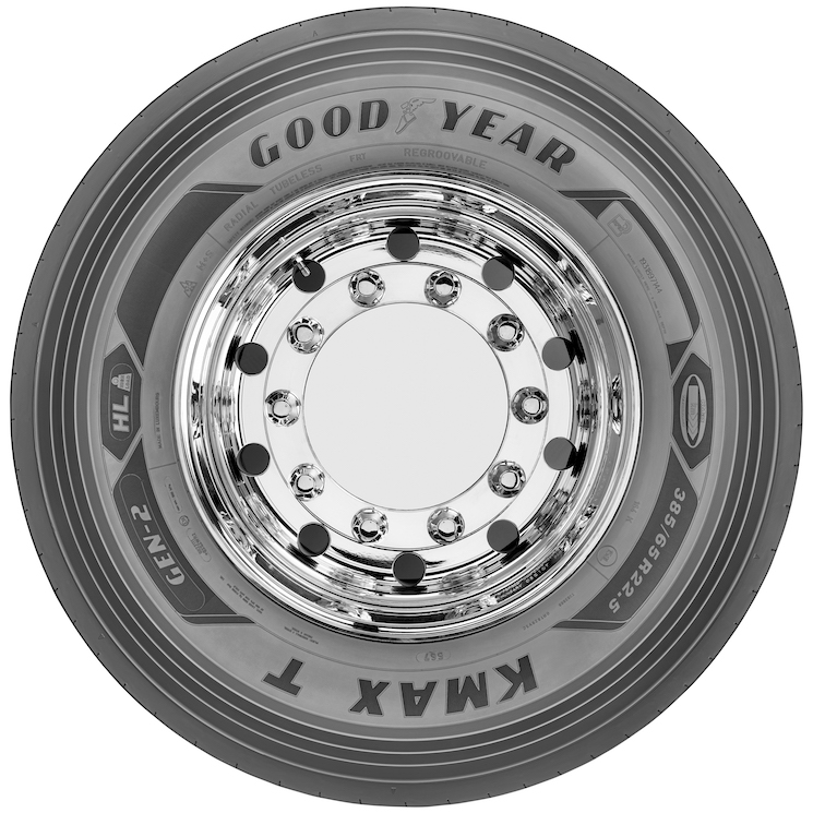Goodyear completa la gama de neumático de camión KMAX GEN-2 con los neumáticos KMAX T GEN-2 para eje direccional y de tracción.