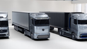 Camiones eléctricos Mercedes-Benz: eActros, eActros Long Haul y GenH2.