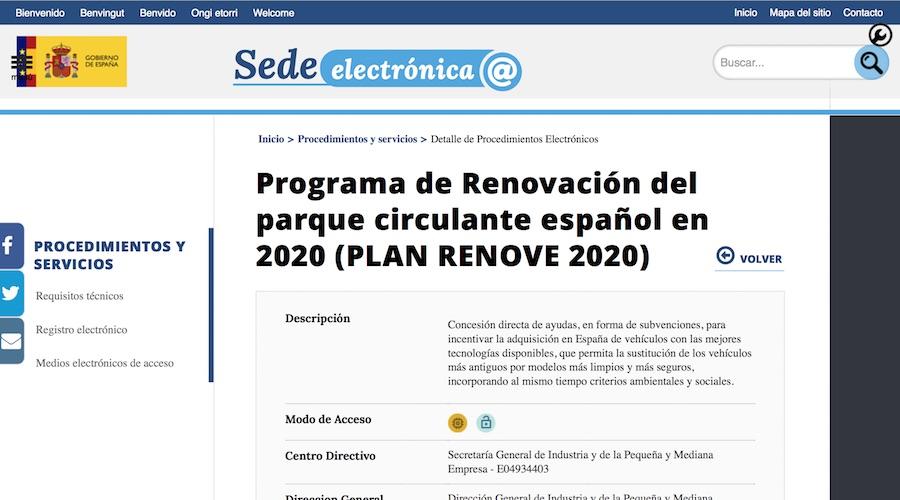 Activada la ventanilla electrónica para solicitar las ayudas del Plan Renove
