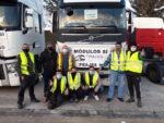 Protestas de socios de TRADISNA en Navarra contra la eliminación de los módulos y el peaje para camiones
