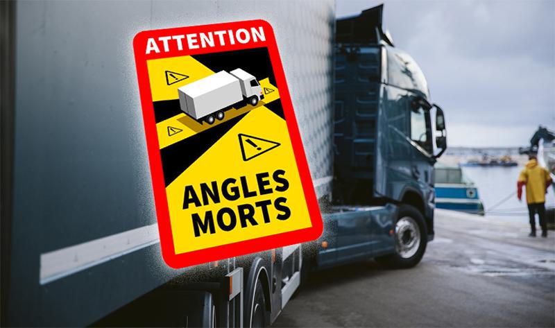 La UETR pide a la Comisión que suspenda la obligación de señalizar los ángulos muertos en los camiones en Francia