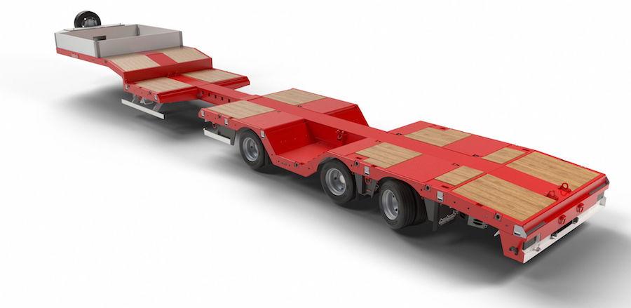 Nooteboom lanza una góndola semirrebajada extensible de hasta 39 Tn de carga