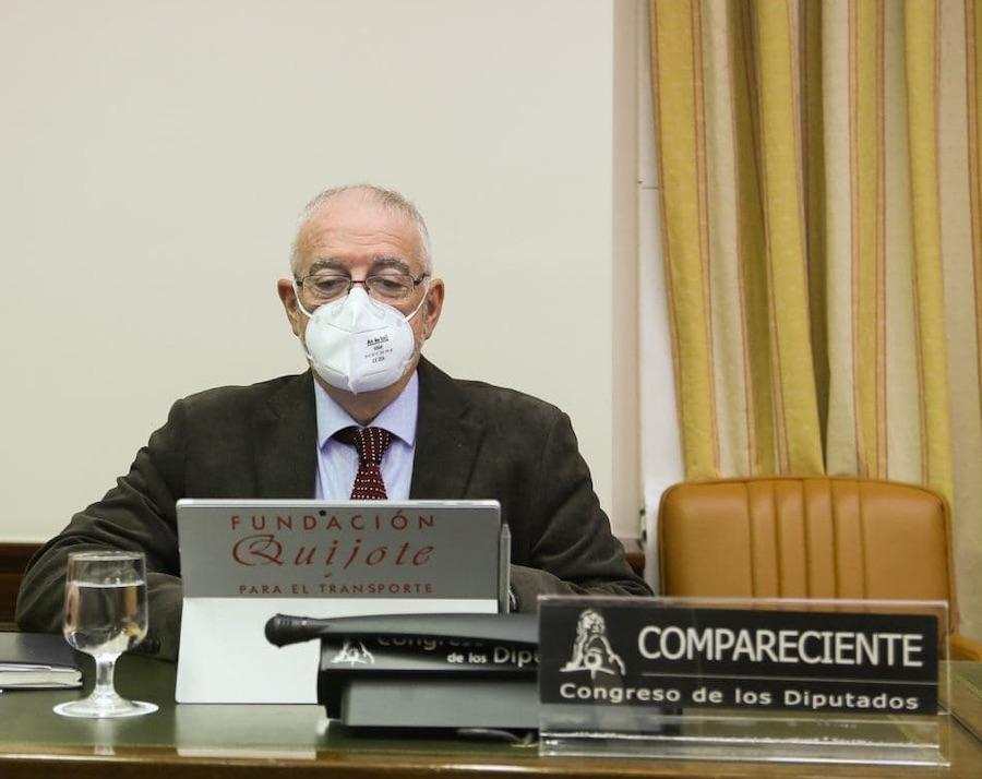 Julio Villaescusa interviene en la Comisión de Seguridad Vial del Congreso.