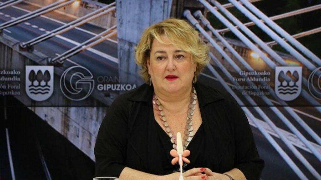 Aintzane Oiarbide, diputada de infraestructuras de la Diputación Foral de Guipúzcoa.
