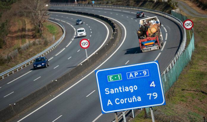 La autopista AP9 en Galicia