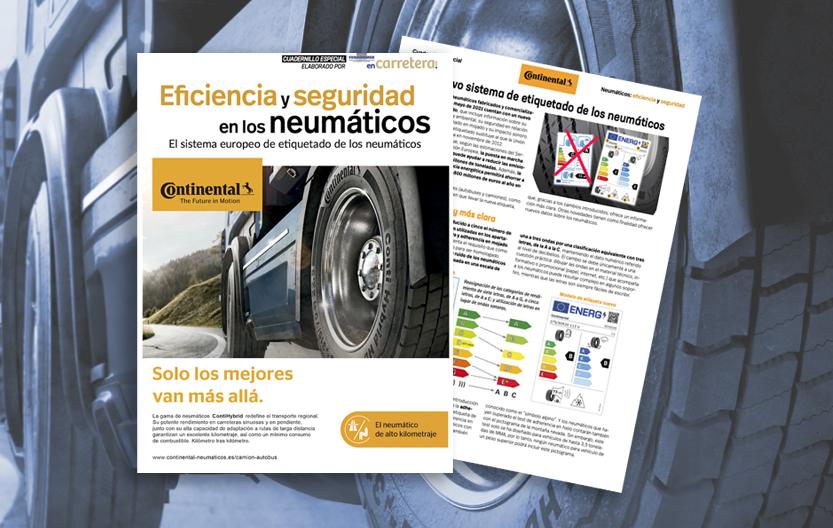 cuadernillo neumáticos seguridad eficiencia y etiquetado